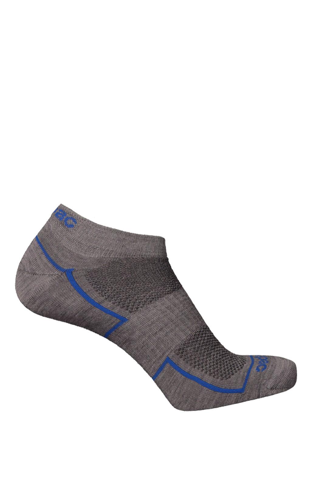 Merino Blend Anklet Socks 2 Pack, Grey Marle, hi-res
