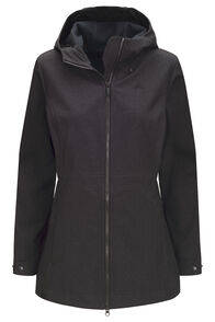 Macpac Women's Chord Softshell Hooded Jacket, Black, hi-res