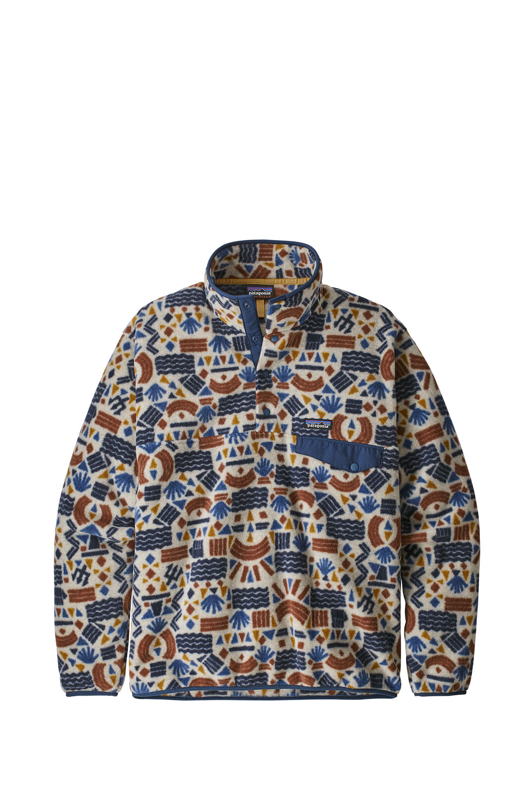 Patagonia M's LW Synchilla Snap-T Pullover, Rrint Protected Peaks, hi-res