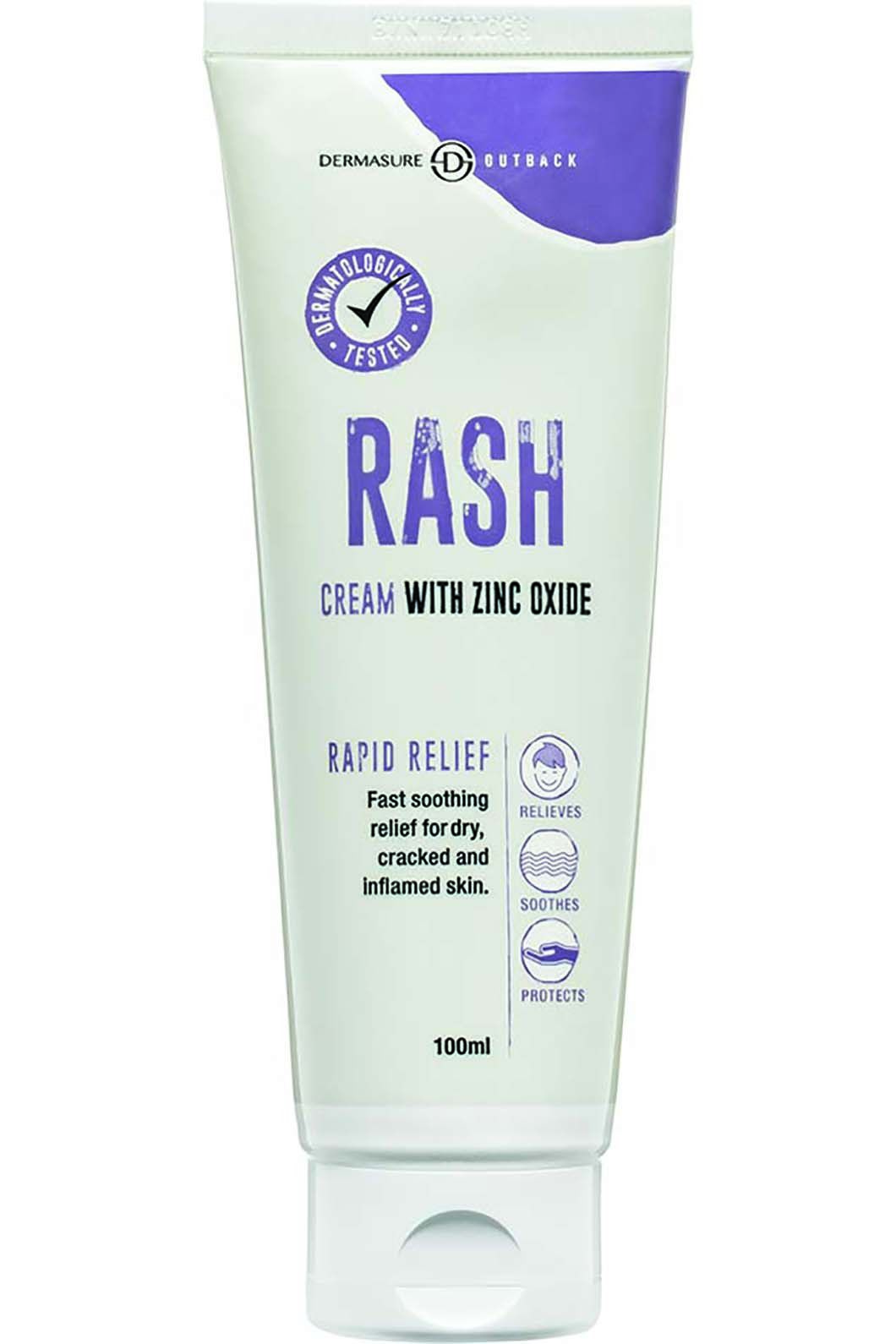 Dermasure Rash Cream with Zinc Oxide, None, hi-res