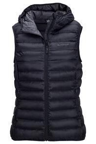 Macpac Women's Uber Light Hooded Down Vest, Black, hi-res