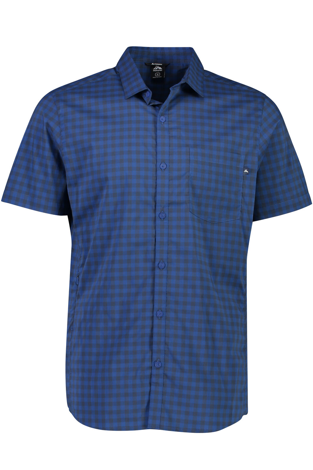 Macpac Crossroad Short Sleeve Shirt - Men's, Black Iris, hi-res