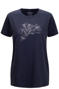 Macpac Women's Floral Short Sleeve Tee, BLUE NIGHTS, hi-res