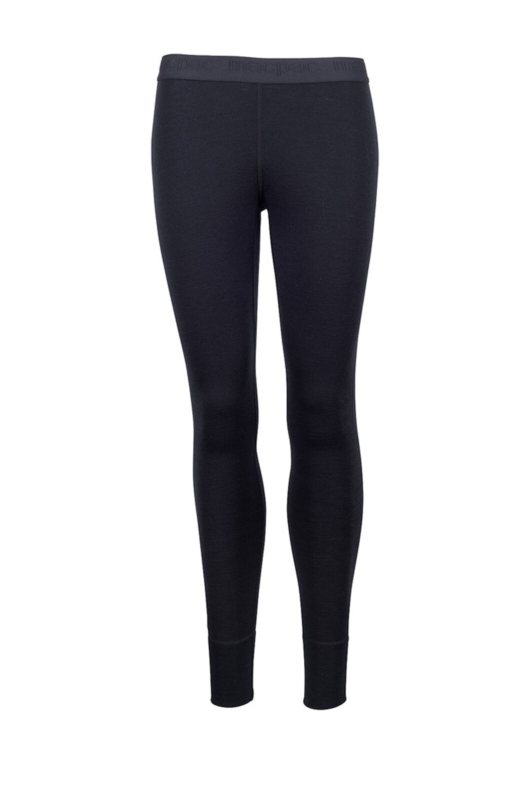Macpac 220 Merino Long Johns — Women's, Black, hi-res