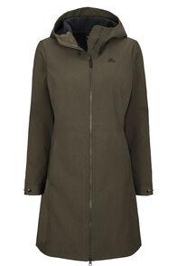 Macpac Chord Softshell Hooded Coat — Women's, Black Olive, hi-res