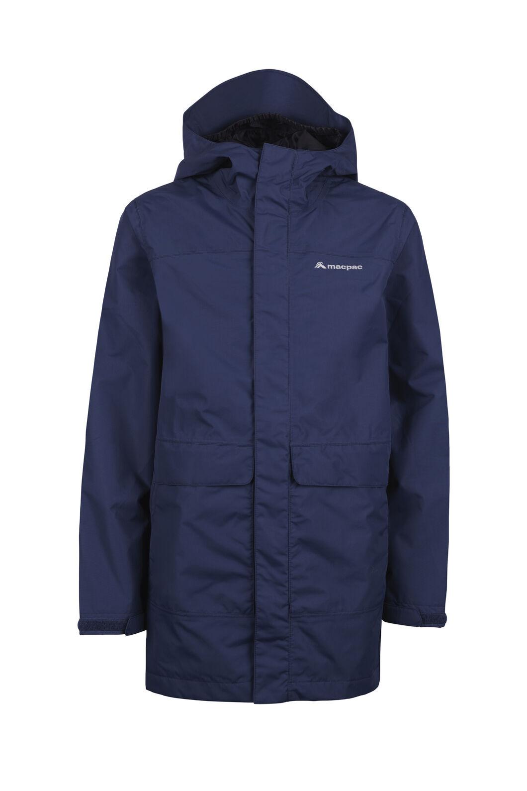 Macpac Lagoon Long Rain Jacket - Kids', Medieval Blue, hi-res