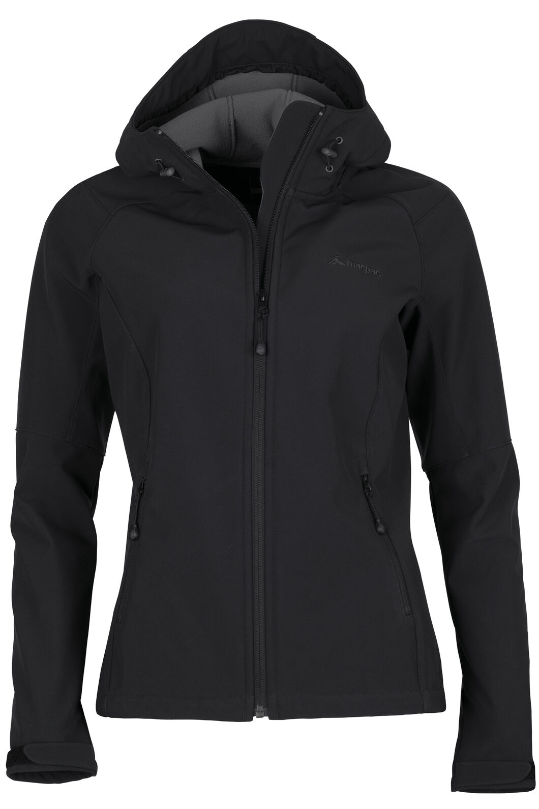 Sabre Hooded Softshell Jacket - Women's, Black, hi-res