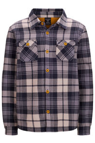 Macpac Kids' Lyndon Polartec® Fleece Lined Shirt, Tradewinds Plaid, hi-res