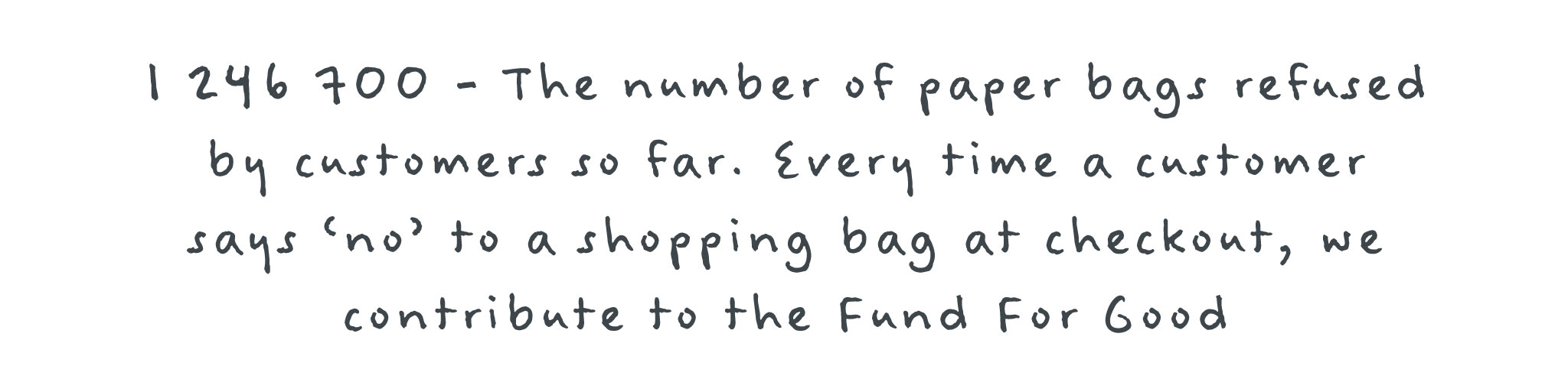 353,000 - The number of paper bags refused in the last year.